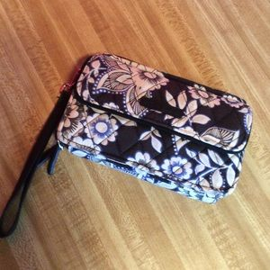 Vera Bradley wristlet double zipper wallet